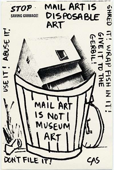 Carol Schneck mail art to John Held