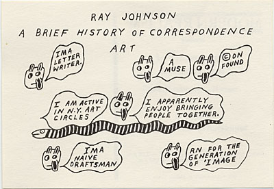 "Invitation to the exhibition ""The Letters of Ray Johnson"""