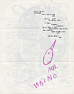 [Ray Johnson mail art to John Held verso ]