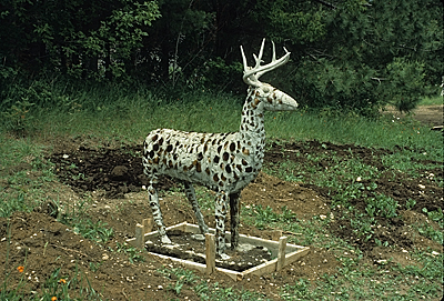 Lone Deer Sculpture