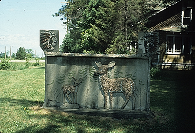 [Deer relief sculpture]