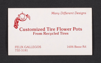 Felix Gallegos business card