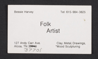 Bessie Harveys business card