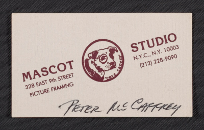 Mascot Studio business card