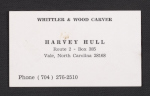 Harvey Hulls business card
