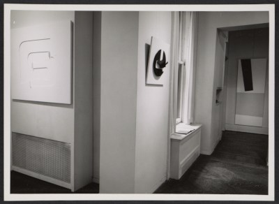 An installation photograph of the Purism exhibition at the David Herbert Gallery