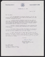Starke Meyer, Washington, D.C. letter to Charles White, Los Angeles, Calif.