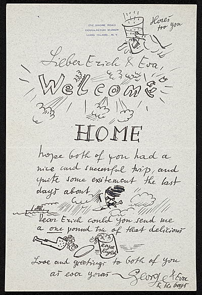 George Grosz to Erich S. Herrmann
