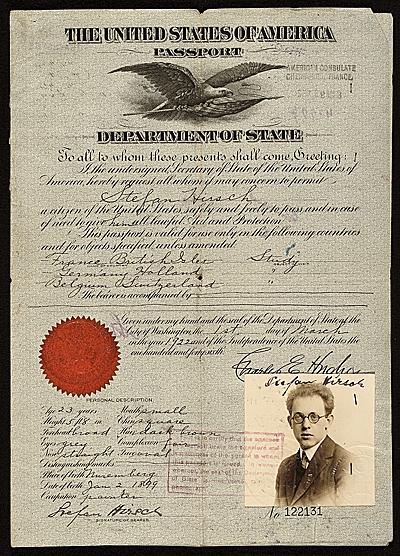 Passport of Stefan Hirsch