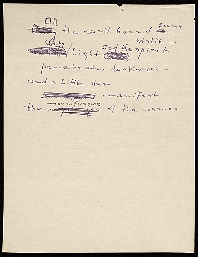 [Hans Hofmann poem All the earth bound...]
