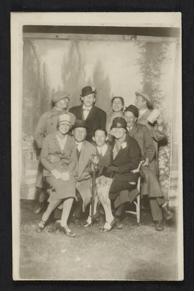 Posed group of men and women in Munich
