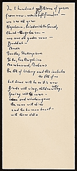 [Hans Hofmann poem In 5 hundred billions of years... ]