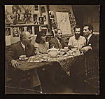 [Carl Holty, Joan Miró and others at tea ]