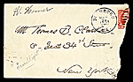 [Winslow Homer to Thomas B. (Thomas Benedict) Clarke envelope ]