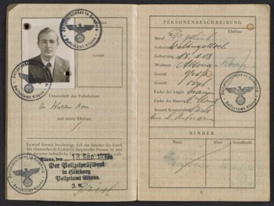 [Walter Horn's passport]