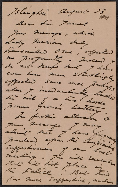 [Harriet Goodhue Hosmer letter to Sir James]