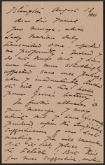 Harriet Goodhue Hosmer letter to Sir James