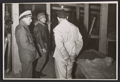 Thomas Carr Howe, George Stout, and Karl Sieber in the Kammergrafen mine in Altaussee, Austria