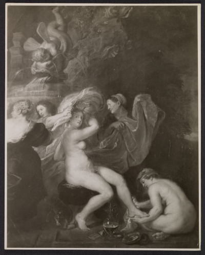 Reproduction of Rubens' painting Diana at the bath
