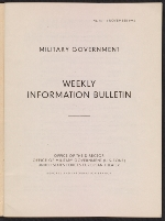 [Military Government Weekly Information Bulletin, no. 15 page 2]