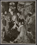 Reproduction of the  Master of Cappenberg's painting Adoration of the Magi