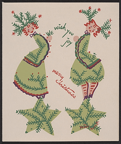[Linda Stern Christmas card designed by Peter Hunt]