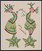 Linda Stern Christmas card designed by Peter Hunt