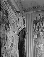 George Biddle painting mural