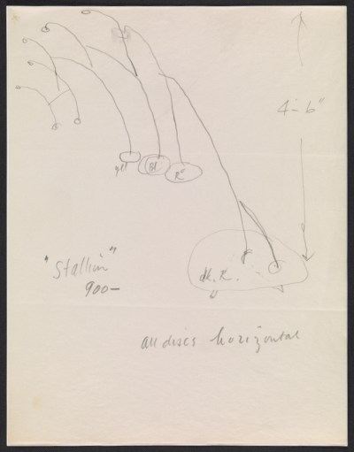 [Alexander Calder design sketch for Stallion]