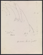 Alexander Calder design sketch for Stallion