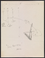 Alexander Calder design sketch for Long red wire