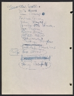 [Robert Richman draft telegram and list of notable Americans in the arts and sciences for President-elect John F. Kennedy verso 4]