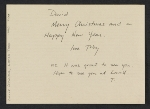 [Toby Cox christmas card to David Ireland verso 1]