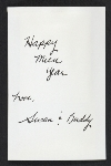 [Susan Rhodes christmas card to David Ireland verso 1]