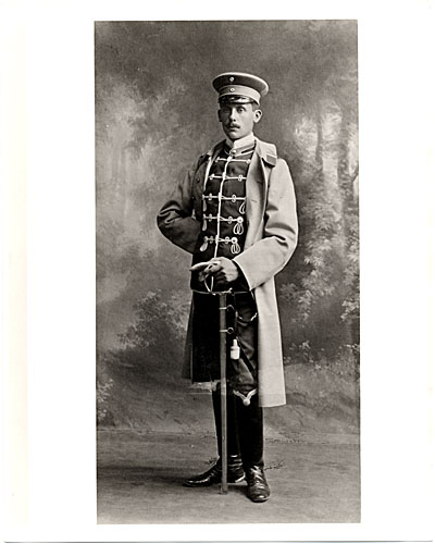 Walter Gropius as a cadet in the Fifteenth Hussar Regiment, Wandabeck