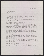 A letter from Walter Gropius to John J. McCloy