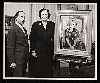 Eric Isenburger and Mrs. Albert D. Lasker