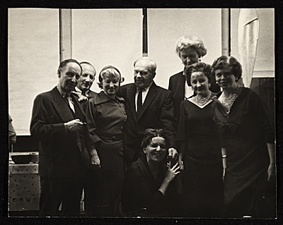 Eric and Jula Isenburger with Alexander Archipenko and others