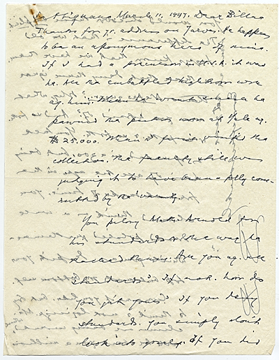 [Bernard Berenson letter to William Mills Ivins]