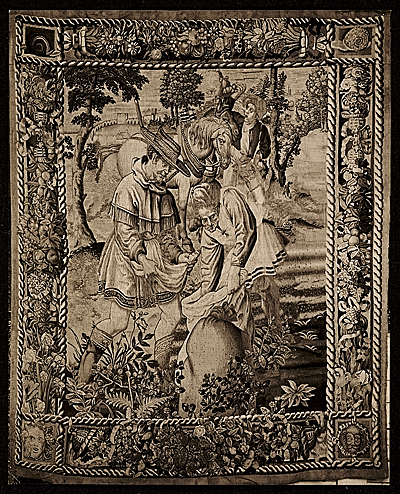 [Photo of a tapestry titled The sower]