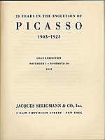 Exhibition catalog Twenty Years in the Evolution of Picasso