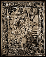 [Photo of a tapestry titled The sower ]