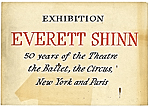 Everett Shinn exhibition sign