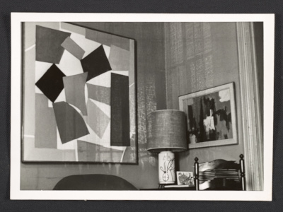 View of Alma Thomas living room in Washington, D.C.