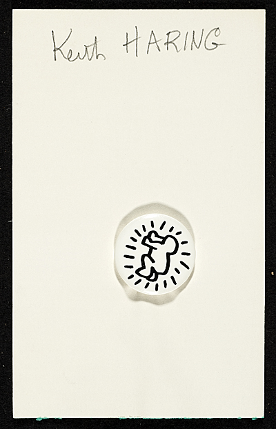 Keith Haring button