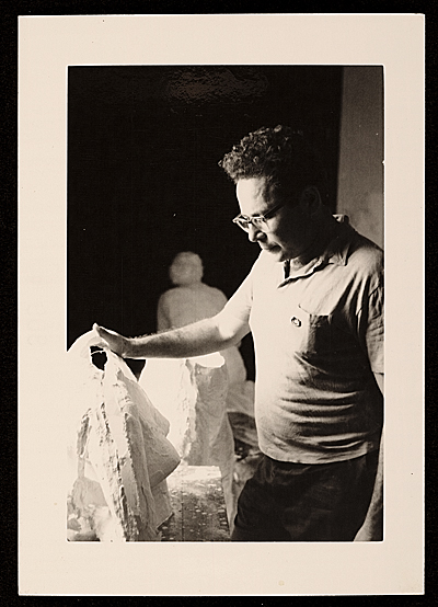 [George Segal in his studio]