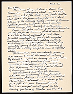 [George Segal letter to Ellen H. Johnson ]