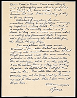 [George Segal letter to Ellen H. Johnson 1]