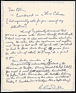 Royce Dendler letter to Ellen H. Johnson