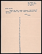 [Mel Bochner, New York, N.Y. letter to Ellen H. Johnson ]